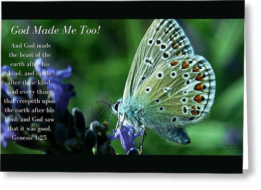 God Made Me Too - Greeting Card - Love the Lord Inc