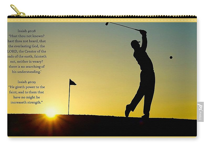 Golfer- He Gives Strength - Carry-All Pouch - Love the Lord Inc