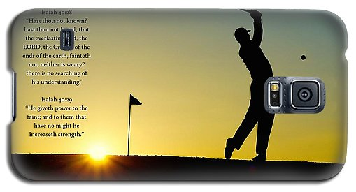 Golfer- He Gives Strength - Phone Case - Love the Lord Inc