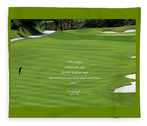 Grass Word Of God and Golf Course  - Blanket - Love the Lord Inc