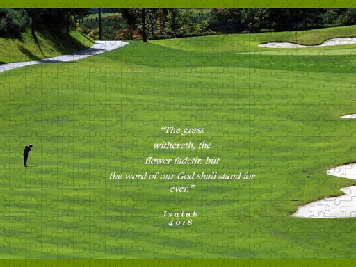Grass Word Of God and Golf Course  - Puzzle - Love the Lord Inc