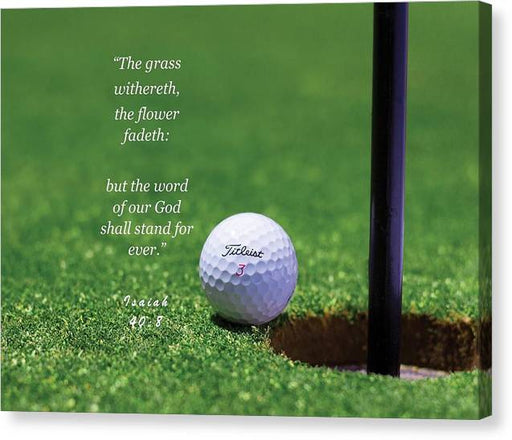 Grass Word Of God Golf Ball - Canvas Print - Love the Lord Inc
