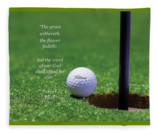 Grass Word Of God Golf Ball - Blanket - Love the Lord Inc