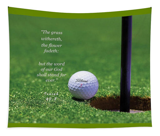 Grass Word Of God Golf Ball - Tapestry - Love the Lord Inc