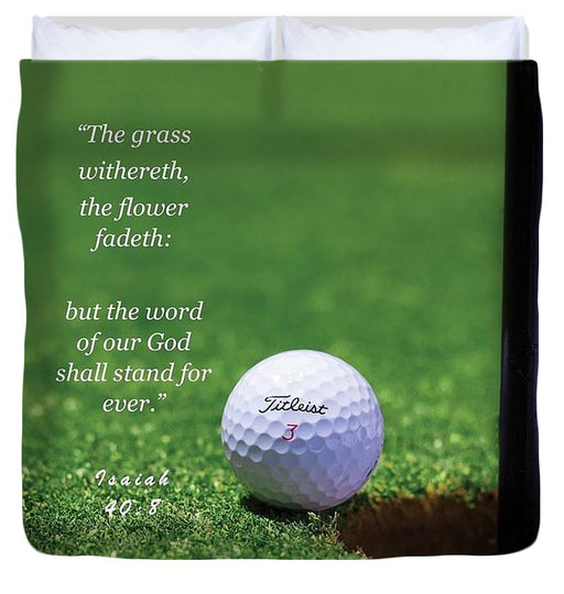 Grass Word Of God Golf Ball - Duvet Cover - Love the Lord Inc