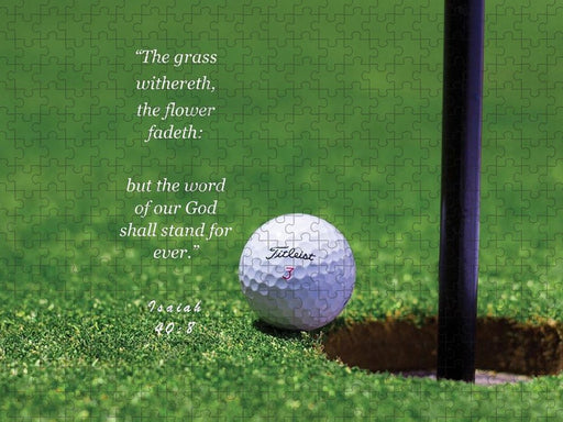 Grass Word Of God Golf Ball - Puzzle - Love the Lord Inc
