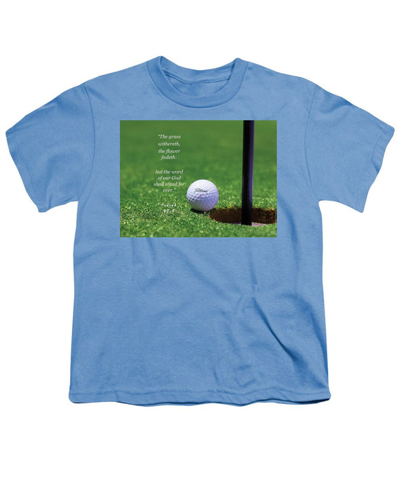 Grass Word Of God Golf Ball - Youth T-Shirt - Love the Lord Inc