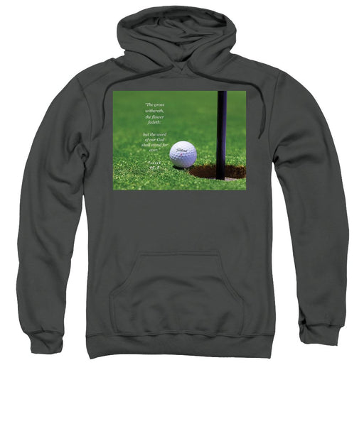 Grass Word Of God Golf Ball - Sweatshirt - Love the Lord Inc