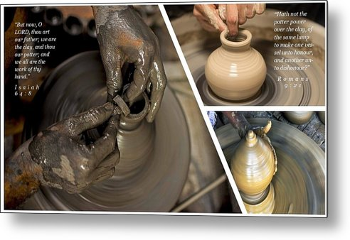 He Is The Potter-We Are The Clay - Metal Print - Love the Lord Inc