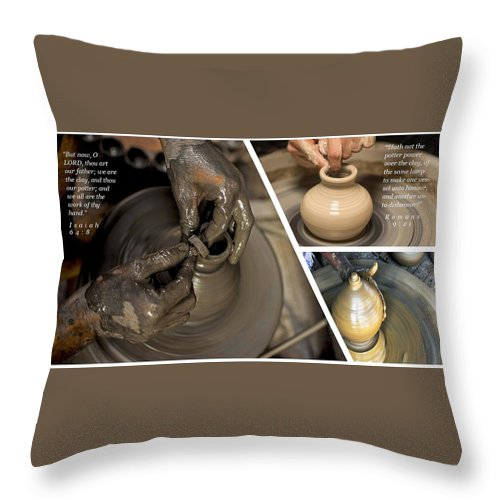 He Is The Potter-We Are The Clay - Throw Pillow - Love the Lord Inc