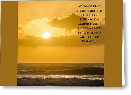 In The Morning - My Prayer - Greeting Card - Love the Lord Inc