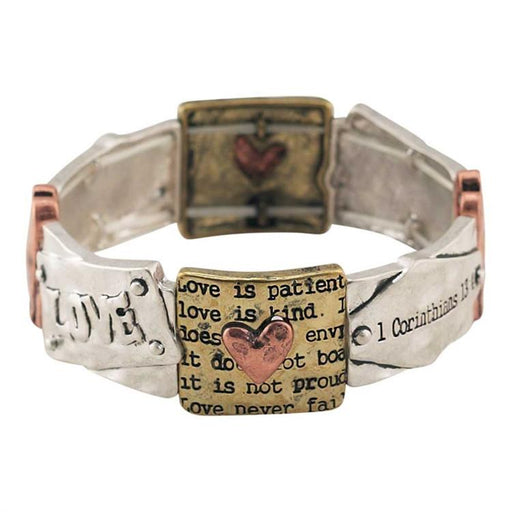 Christian Bracelet - 1 Cor 13 Love Is Patient - Love the Lord Inc