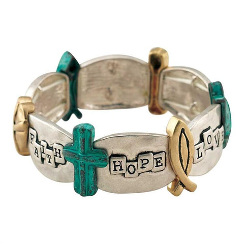 Jewelry - Christian Bracelet - Faith, Hope And Love