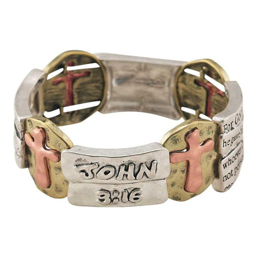 "Christian Bracelet - John 3:16 ""For God So Loved The World"" - Love the Lord Inc"