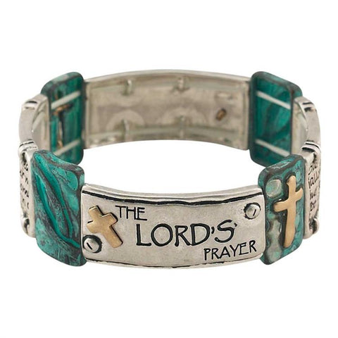 Jewelry - Christian Bracelet - The Lord's Prayer (Turquoise)
