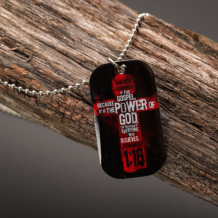 Christian Dog Tag - Romans 1:16 - Love the Lord Inc