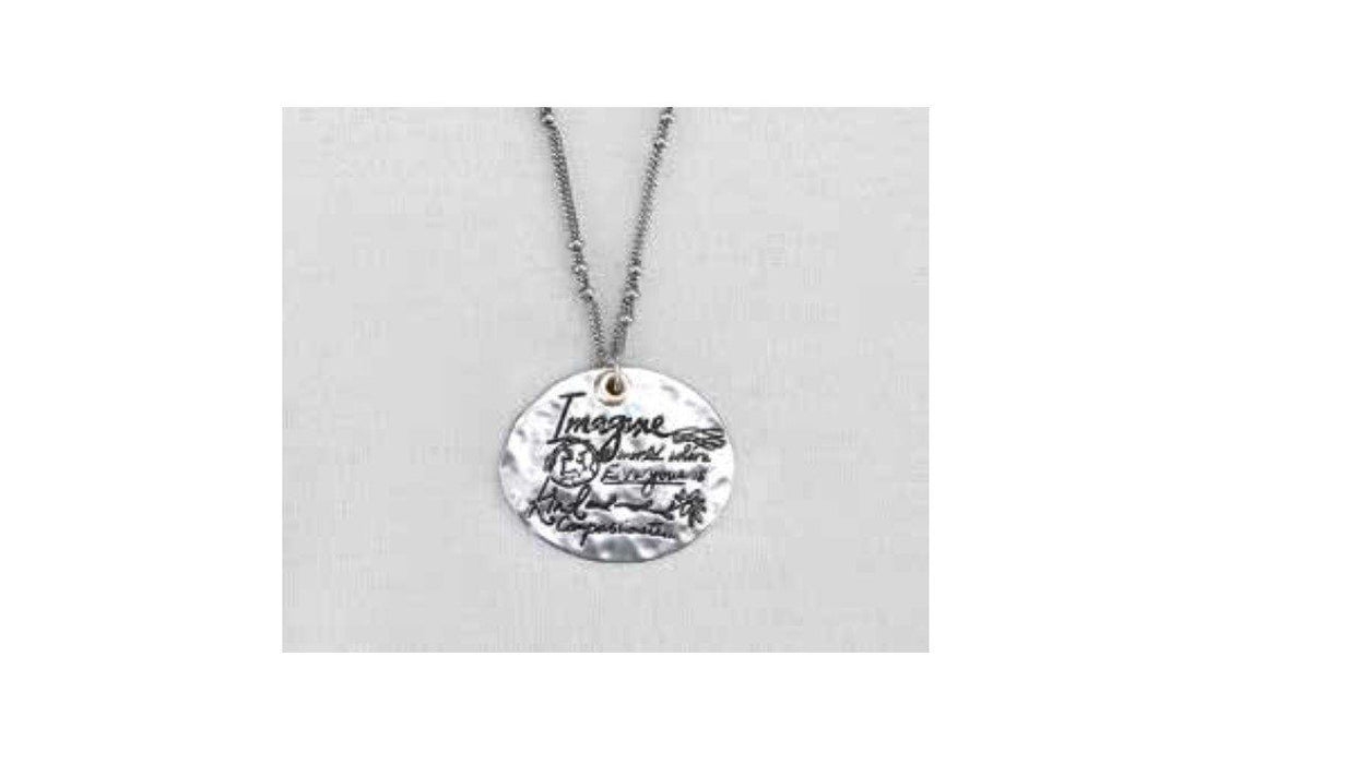 Christian Jewelry - Silver Message Necklace Kindness - Love the Lord Inc
