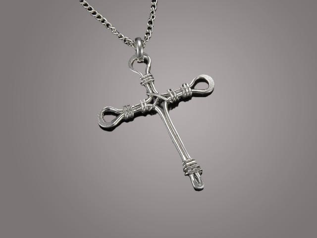 Christian Necklace - Silver Plated Cross - Love the Lord Inc