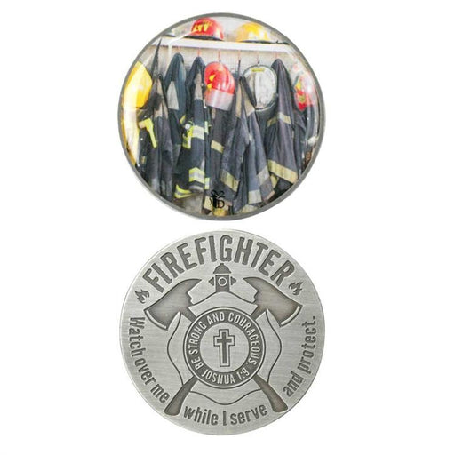 Pocket Coin - Fire Fighter and First Responder (Prayer and Scripture) - Love the Lord Inc