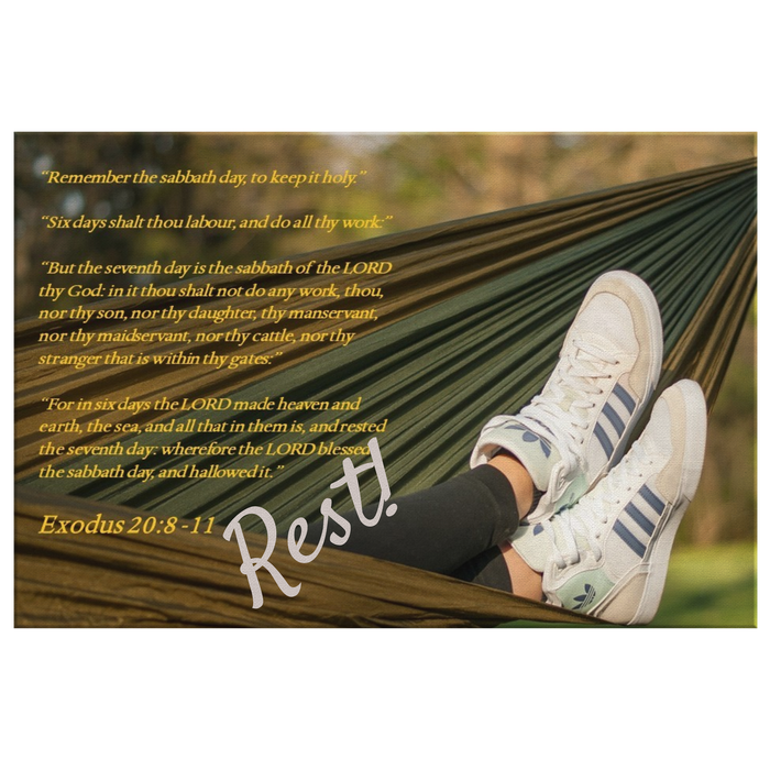 Canvas Print - Rest! God's Sabbath Day - Love the Lord Inc