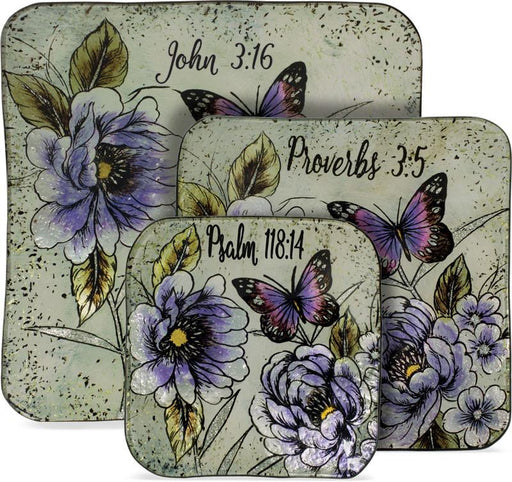 3 Piece Plate Set - Scripture Gift - Love the Lord Inc