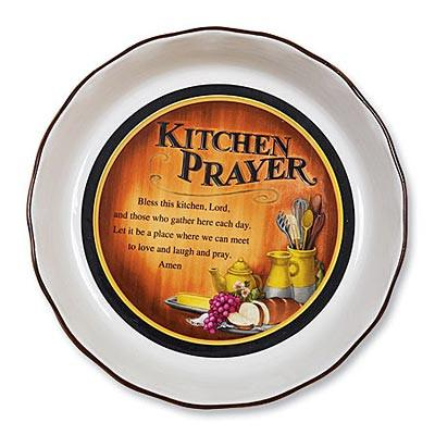 Kitchen - Christian Gift - Kitchen Prayer Pie Plate