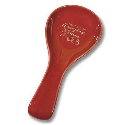 "Christian Kitchen Spoon - ""Amazing Woman"" Spoon Rest - Love the Lord Inc"