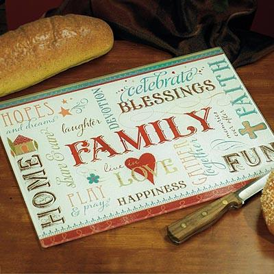 Cutting Board - Family Blessings - Love the Lord Inc