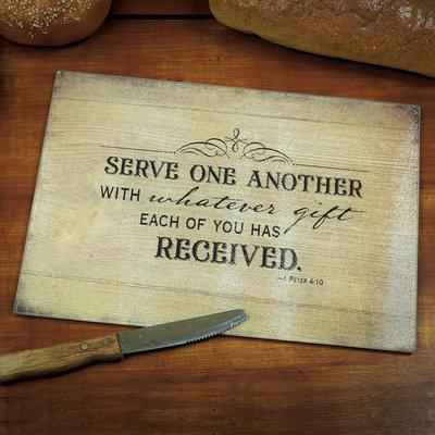 Cutting Board - Serve One Another - Love the Lord Inc