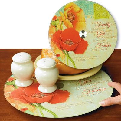 Kitchen Gifts (Christian) - Our Family Is  Circle of Love Spinning Serving Plate - Love the Lord Inc