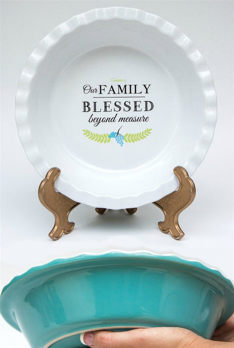 Pie Plate - Family Blessed - Love the Lord Inc