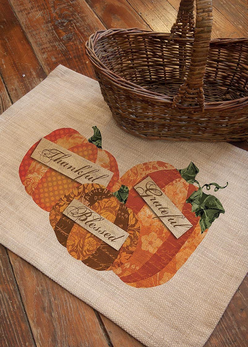 Place Mat - Thankful, Grateful, Blessed - Love the Lord Inc
