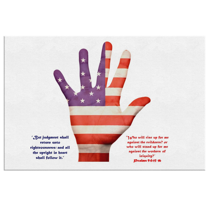 USA Hand Flag - Who Will Stand Up? - Love the Lord Inc