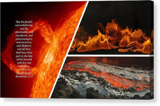 Lake of Fire - Revelations - Canvas Print - Love the Lord Inc