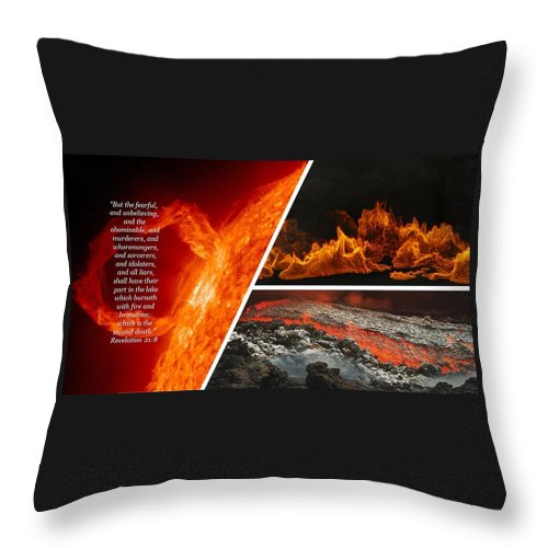 Lake of Fire - Revelations - Throw Pillow - Love the Lord Inc
