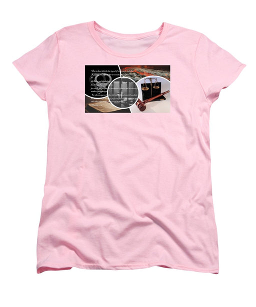 Law and Order  1 Timothy 1-8 - Women's T-Shirt (Standard Fit) - Love the Lord Inc