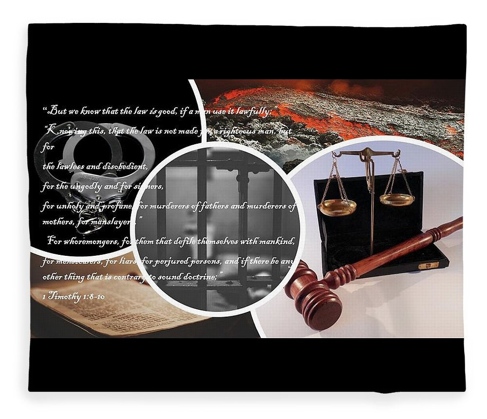 Law and Order  1 Timothy 1-8 - Blanket - Love the Lord Inc