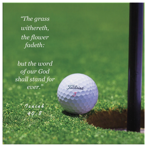 Grass and The Word - Golf1 (Canvas) - Love the Lord Inc