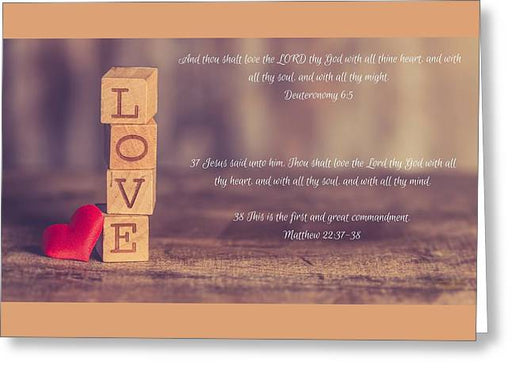 Love The Lord Your God - Greeting Card - Love the Lord Inc