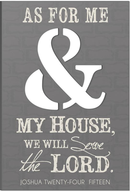 "Medium Size Wall Art - Christian Wall Art - ""As For Me And My House"""