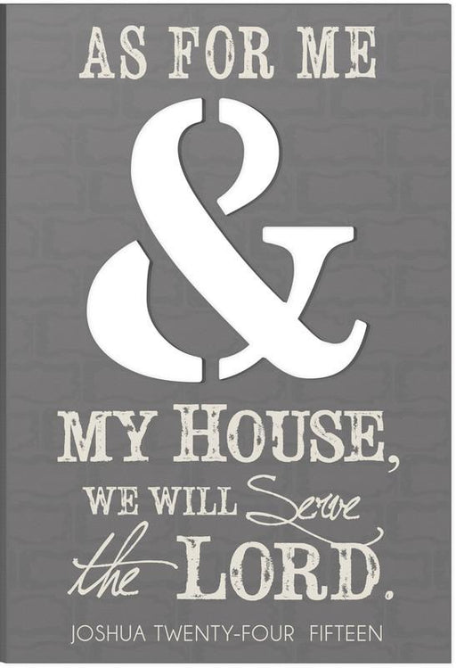 "Christian Wall Art - ""As For Me and My House"" - Love the Lord Inc"