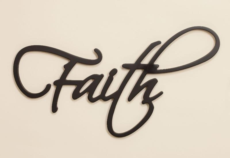 Christian Wall Art - Faith Wall Word - Love the Lord Inc