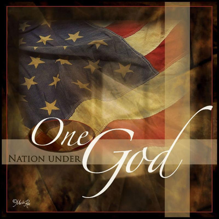 Christian Wall Art - One Nation Under God - Love the Lord Inc