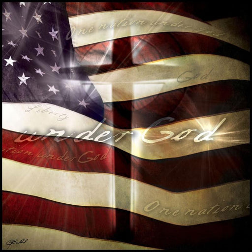 "Christian Wall Art - ""One Nation Under God"" - Love the Lord Inc"