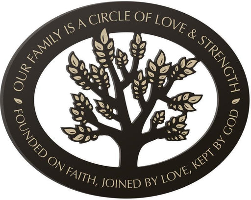 Christian Wall Art - Our Family...Circle of Love and Strength - Love the Lord Inc