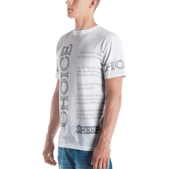 Men's T-shirt - Choice (Sheep or Goat) - Love the Lord Inc