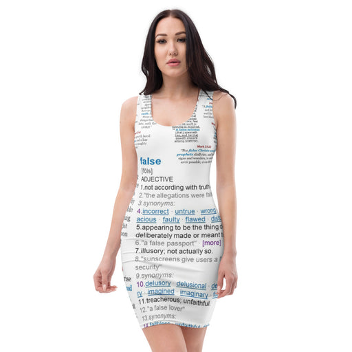 Sublimation Cut & Sew Dress - Beware of False... - Love the Lord Inc
