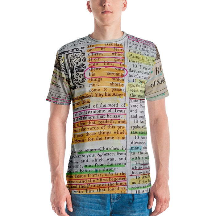 Men's T-shirt All Around Print - The Book Of Revelations - Love the Lord Inc