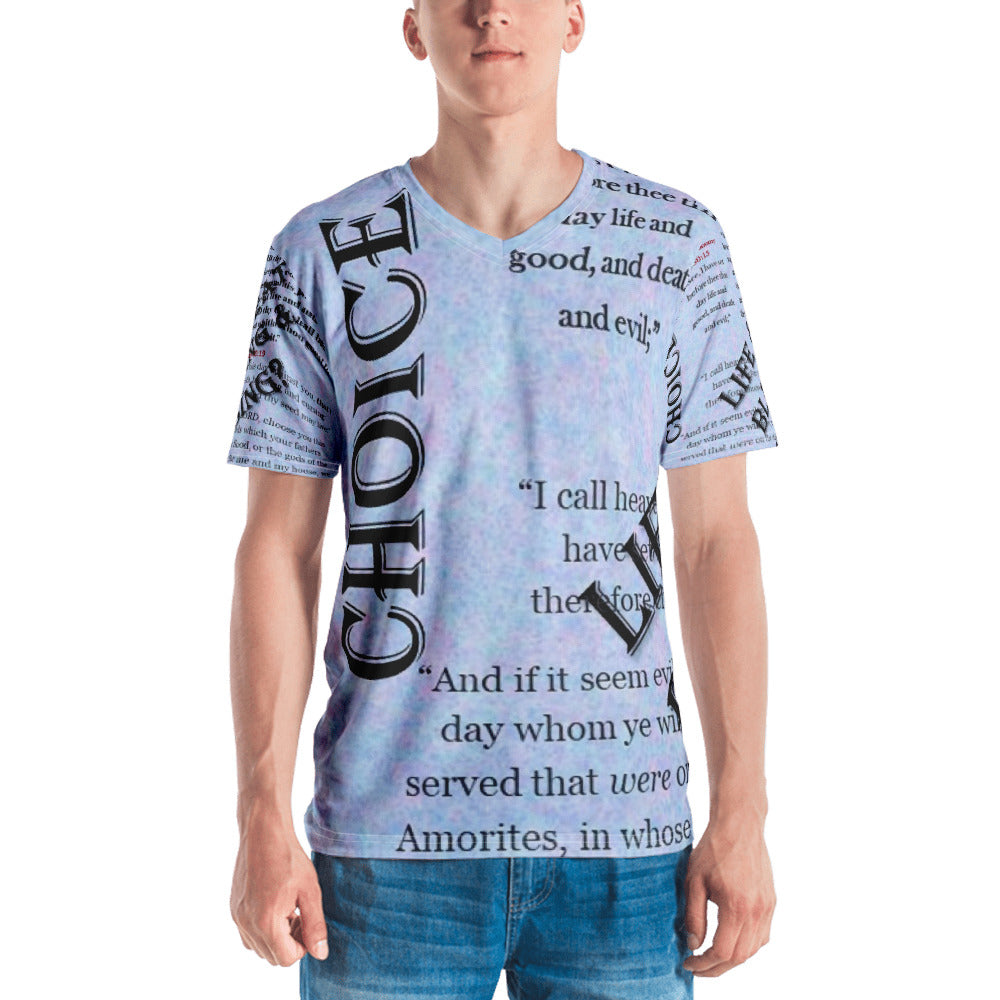 Men's T-shirt - Choice (Life & Death, Blessing & Cursing) - Love the Lord Inc