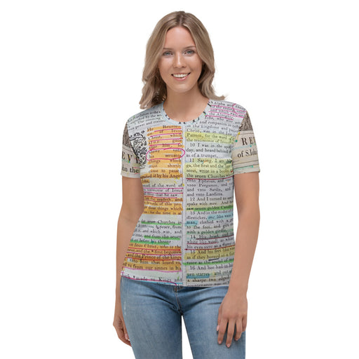 Women's T-shirt All Around Print - The Book Of Revelations - Love the Lord Inc